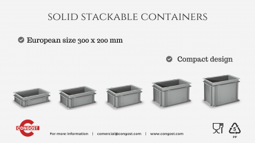 New product range: Solid Stackable Containers