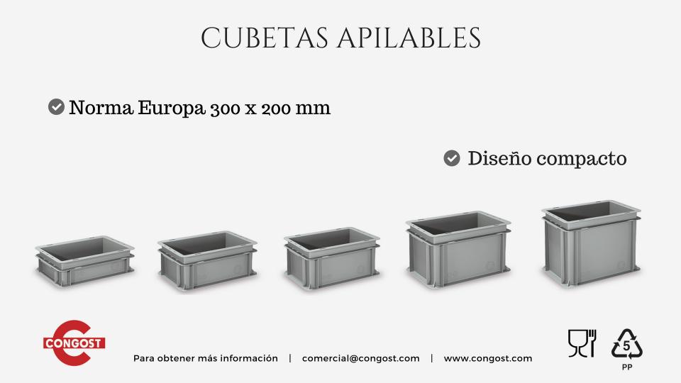 Nueva gama: Cubetas Apilables