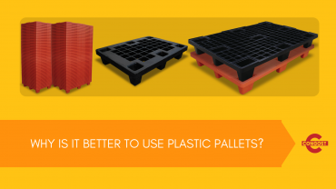 Why is it better to use plastic pallets?