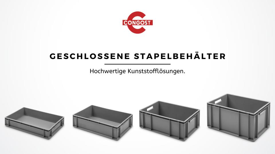 Logistik- und Lagerlösungen: Geschlossene Stapelbehälter